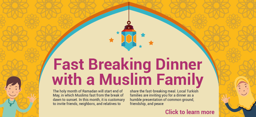 Invitation: Fast breaking dinner with a Muslim family