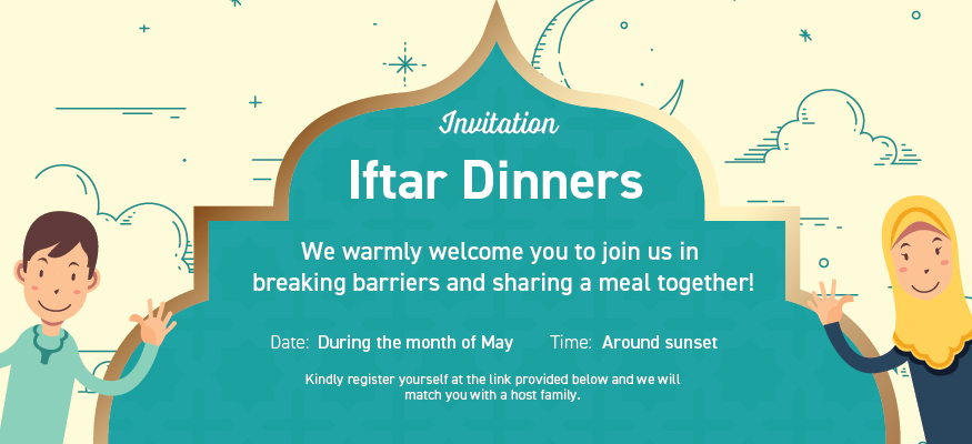 Do you want to have Iftar (fast breaking) dinner with a Muslim family?