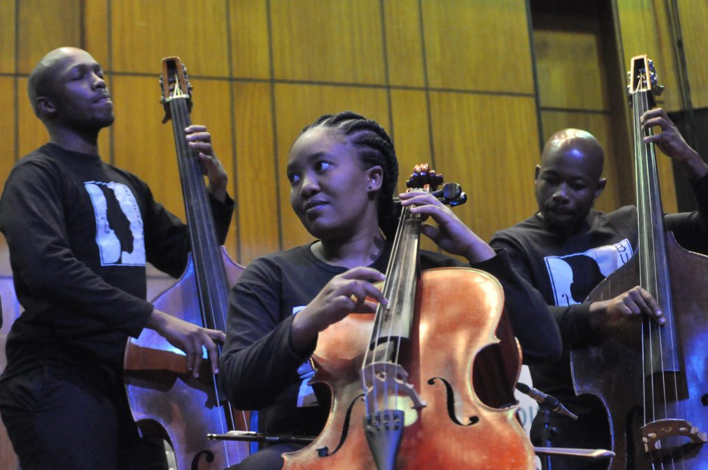 JOHANNESBURG, SOUTH AFRICA - JUNE 21: Buskaid Soweto String Project during the World Refugee Day commemoration concert held at Linder Auditorium on June 21, 2019 in Johannesburg, South Africa. The event, which is South Africa?s first concert for refugees, being held to mark the United Nations' World Refugee Day which was on June 20, also highlights the plight of refugees in the country. (Photo by Gallo Images/Laird Forbes)